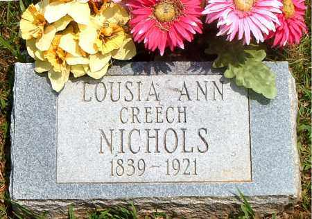 CREECH NICHOLS, LOUISA ANN - Boone County, Arkansas | LOUISA ANN CREECH NICHOLS - Arkansas Gravestone Photos