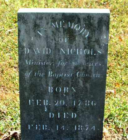 NICHOLS  (VETERAN 1812), DAVID - Boone County, Arkansas | DAVID NICHOLS  (VETERAN 1812) - Arkansas Gravestone Photos