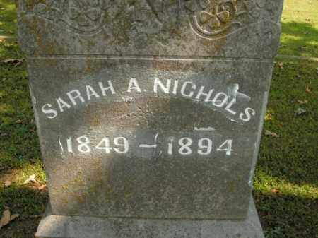 NICHOLS, SARAH A. - Boone County, Arkansas | SARAH A. NICHOLS - Arkansas Gravestone Photos