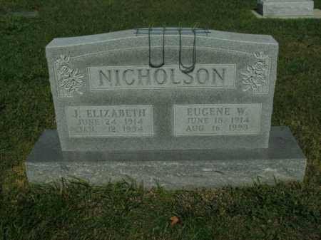 NICHOLSON, EUGENE W. - Boone County, Arkansas | EUGENE W. NICHOLSON - Arkansas Gravestone Photos