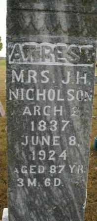 NICHOLSON, MARY - Boone County, Arkansas | MARY NICHOLSON - Arkansas Gravestone Photos