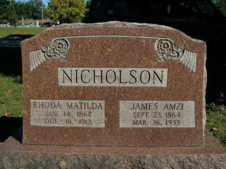 NICHOLSON, JAMES AMZI - Boone County, Arkansas | JAMES AMZI NICHOLSON - Arkansas Gravestone Photos