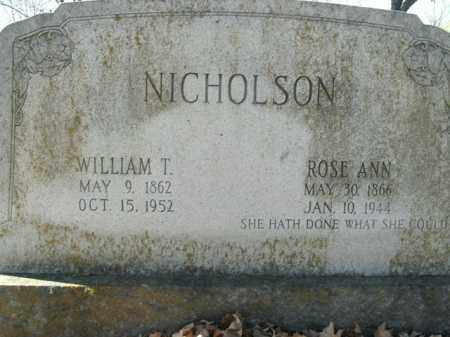 NICHOLSON, ROSE ANN - Boone County, Arkansas | ROSE ANN NICHOLSON - Arkansas Gravestone Photos