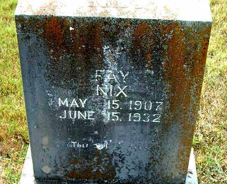 NIX, FAY - Boone County, Arkansas | FAY NIX - Arkansas Gravestone Photos