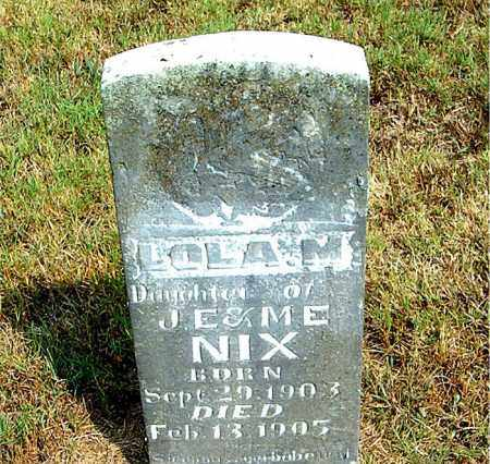 NIX, LOLA  M. - Boone County, Arkansas | LOLA  M. NIX - Arkansas Gravestone Photos