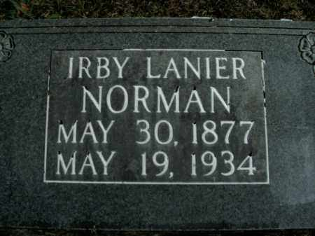 LANIER NORMAN, IRBY - Boone County, Arkansas | IRBY LANIER NORMAN - Arkansas Gravestone Photos