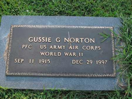 NORTON  (VETERAN WWII), GUSSIE G - Boone County, Arkansas | GUSSIE G NORTON  (VETERAN WWII) - Arkansas Gravestone Photos