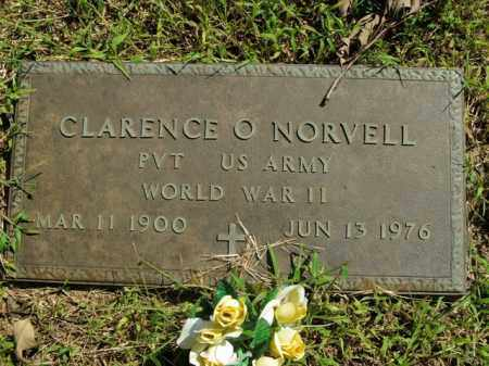 NORVELL  (VETERAN WWII), CLARENCE O. - Boone County, Arkansas | CLARENCE O. NORVELL  (VETERAN WWII) - Arkansas Gravestone Photos
