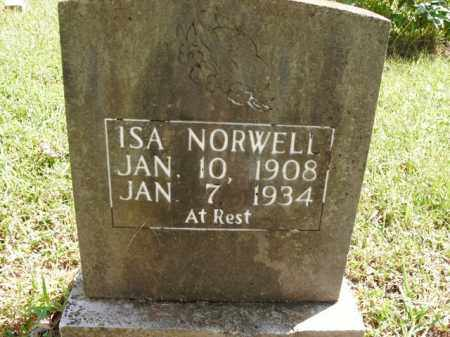 NORWELL, ISA - Boone County, Arkansas | ISA NORWELL - Arkansas Gravestone Photos