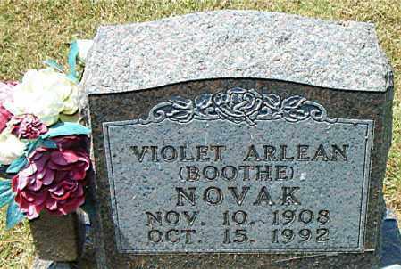 BOOTHE NOVAK, VIOLET ARLEAN - Boone County, Arkansas | VIOLET ARLEAN BOOTHE NOVAK - Arkansas Gravestone Photos