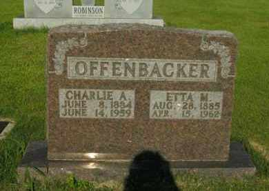 OFFENBACKER, CHARLIE A. - Boone County, Arkansas | CHARLIE A. OFFENBACKER - Arkansas Gravestone Photos