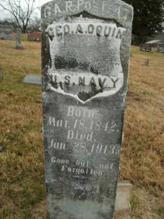 O'QUIN  (VETERAN UNION), GEORGE A - Boone County, Arkansas | GEORGE A O'QUIN  (VETERAN UNION) - Arkansas Gravestone Photos