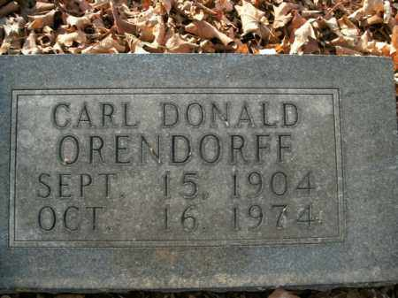 ORENDORFF, CARL DONALD - Boone County, Arkansas | CARL DONALD ORENDORFF - Arkansas Gravestone Photos