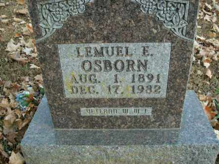 OSBORN, LEMUEL E. - Boone County, Arkansas | LEMUEL E. OSBORN - Arkansas Gravestone Photos
