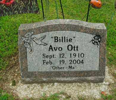 OTT, BILLIE AVO - Boone County, Arkansas | BILLIE AVO OTT - Arkansas Gravestone Photos