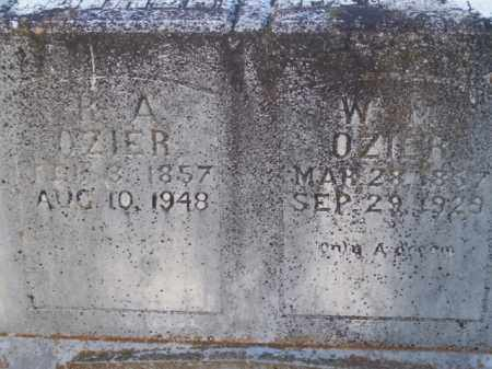OZIER, WILLIAM MANUEL - Boone County, Arkansas | WILLIAM MANUEL OZIER - Arkansas Gravestone Photos