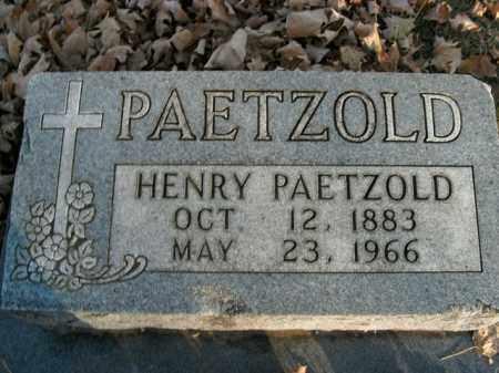 PAETZOLD, HENRY - Boone County, Arkansas | HENRY PAETZOLD - Arkansas Gravestone Photos