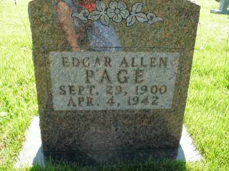 PAGE, EDGAR ALLEN - Boone County, Arkansas | EDGAR ALLEN PAGE - Arkansas Gravestone Photos