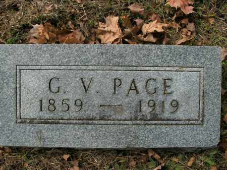 PAGE, GORDIUS V. - Boone County, Arkansas | GORDIUS V. PAGE - Arkansas Gravestone Photos