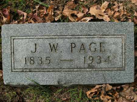 PAGE, JAMES W. - Boone County, Arkansas | JAMES W. PAGE - Arkansas Gravestone Photos