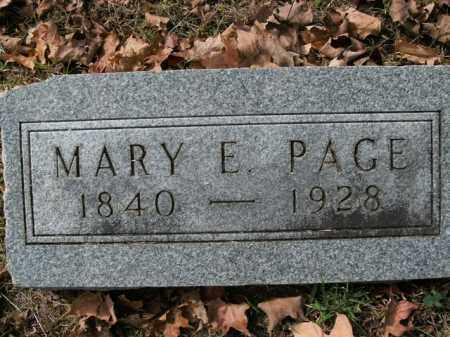 PAGE, MARY E. - Boone County, Arkansas | MARY E. PAGE - Arkansas Gravestone Photos