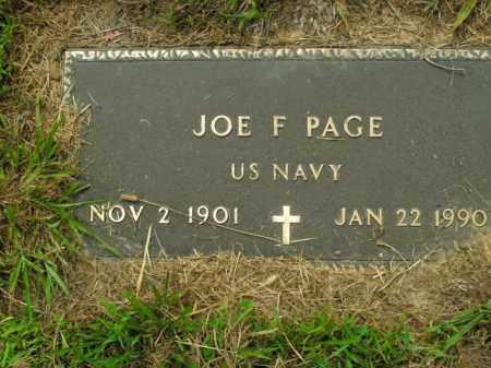PAGE (VETERAN), JOE F. - Boone County, Arkansas | JOE F. PAGE (VETERAN) - Arkansas Gravestone Photos