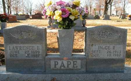 PAPE, LAWRENCE E. - Boone County, Arkansas | LAWRENCE E. PAPE - Arkansas Gravestone Photos