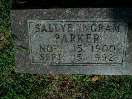 PARKER, SALLYE INGRAM - Boone County, Arkansas | SALLYE INGRAM PARKER - Arkansas Gravestone Photos