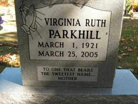 PARKHILL, VIRGINIA RUTH - Boone County, Arkansas | VIRGINIA RUTH PARKHILL - Arkansas Gravestone Photos