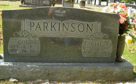 PARKINSON, GERTRUDE - Boone County, Arkansas | GERTRUDE PARKINSON - Arkansas Gravestone Photos