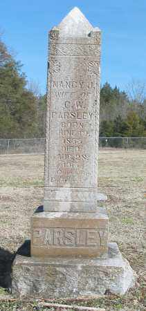 PARSLEY, NANCY J. - Boone County, Arkansas | NANCY J. PARSLEY - Arkansas Gravestone Photos