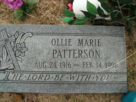 PATTERSON, OLLIE MARIE - Boone County, Arkansas | OLLIE MARIE PATTERSON - Arkansas Gravestone Photos
