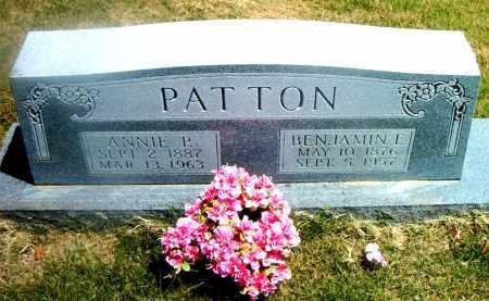 PATTON, BENJAMIN E. - Boone County, Arkansas | BENJAMIN E. PATTON - Arkansas Gravestone Photos