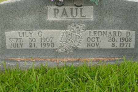 MONDAY PAUL, LILY C. - Boone County, Arkansas | LILY C. MONDAY PAUL - Arkansas Gravestone Photos