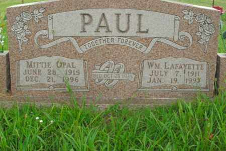 PAUL, MITTIE OPAL - Boone County, Arkansas | MITTIE OPAL PAUL - Arkansas Gravestone Photos