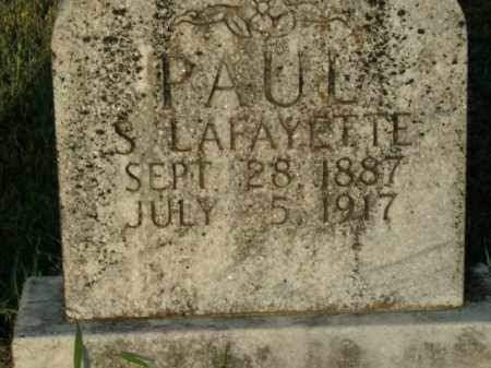 PAUL, S. LAFAYETTE - Boone County, Arkansas | S. LAFAYETTE PAUL - Arkansas Gravestone Photos