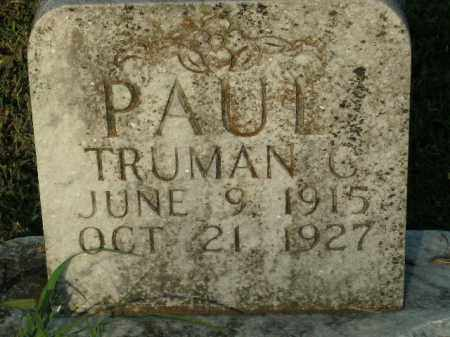 PAUL, TRUMAN C. - Boone County, Arkansas | TRUMAN C. PAUL - Arkansas Gravestone Photos