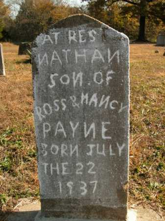 PAYNE, NATHAN - Boone County, Arkansas | NATHAN PAYNE - Arkansas Gravestone Photos