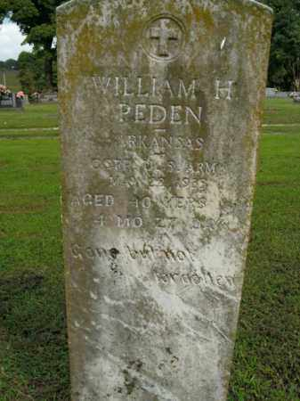 PEDEN  (VETERAN), WILLIAM H - Boone County, Arkansas | WILLIAM H PEDEN  (VETERAN) - Arkansas Gravestone Photos