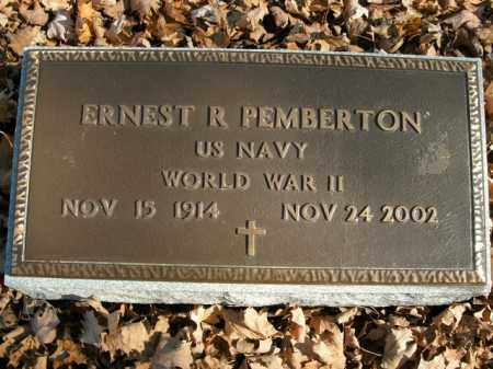 PEMBERTON  (VETERAN WWII), ERNEST R - Boone County, Arkansas | ERNEST R PEMBERTON  (VETERAN WWII) - Arkansas Gravestone Photos