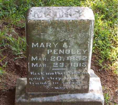 PENDLEY, MARY  A. - Boone County, Arkansas | MARY  A. PENDLEY - Arkansas Gravestone Photos
