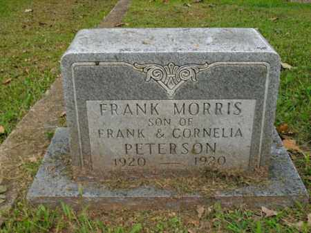 PETERSON, FRANK MORRIS - Boone County, Arkansas | FRANK MORRIS PETERSON - Arkansas Gravestone Photos