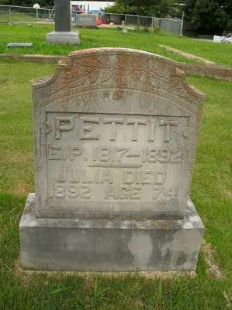 PETTIT, E.P. - Boone County, Arkansas | E.P. PETTIT - Arkansas Gravestone Photos