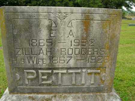 PETTIT, ZILLAH - Boone County, Arkansas | ZILLAH PETTIT - Arkansas Gravestone Photos