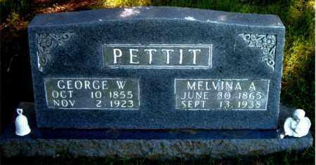 PETTIT, GEORGE  W. - Boone County, Arkansas | GEORGE  W. PETTIT - Arkansas Gravestone Photos