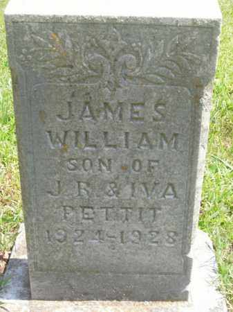 PETTIT, JAMES WILLIAM - Boone County, Arkansas | JAMES WILLIAM PETTIT - Arkansas Gravestone Photos