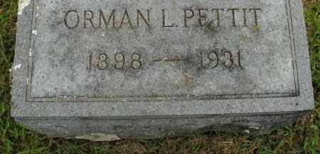 PETTIT, ORMAN L. - Boone County, Arkansas | ORMAN L. PETTIT - Arkansas Gravestone Photos