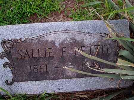 PETTIT, SALLIE EMILINE - Boone County, Arkansas | SALLIE EMILINE PETTIT - Arkansas Gravestone Photos