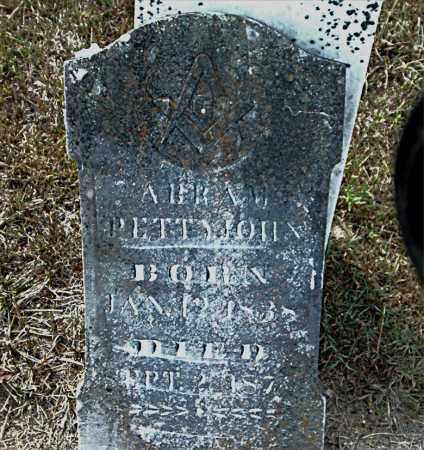 PETTYJOHN, ABRAHAM - Boone County, Arkansas | ABRAHAM PETTYJOHN - Arkansas Gravestone Photos