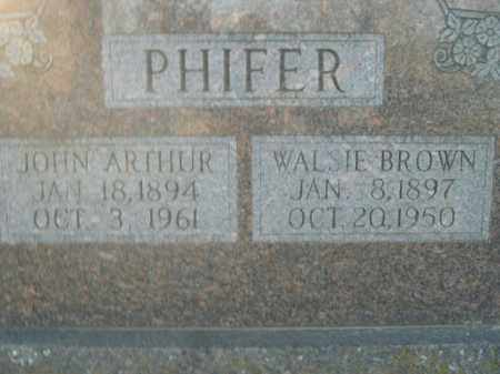 PHIFER, WALSIE - Boone County, Arkansas | WALSIE PHIFER - Arkansas Gravestone Photos